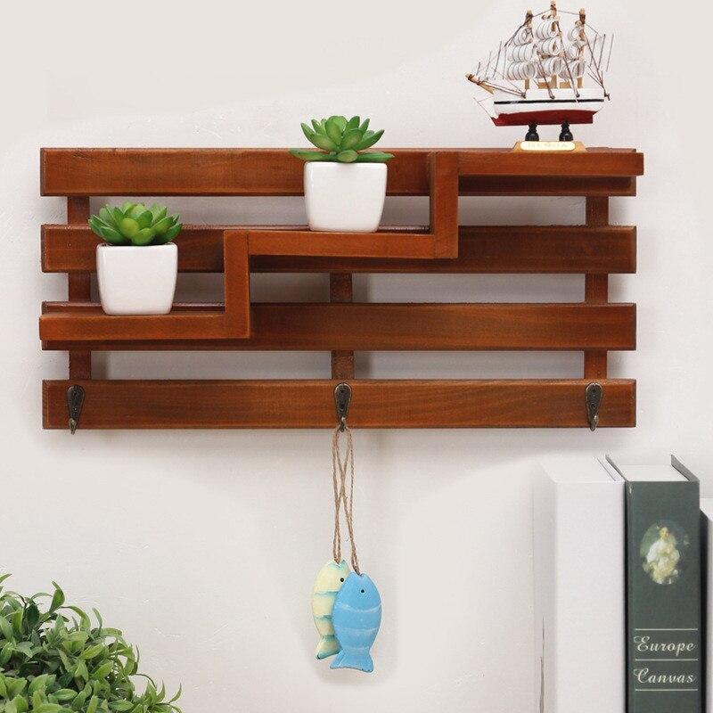 handmade wooden boxes cargo organizer storage box simple small key hanging storage case phone racks wood